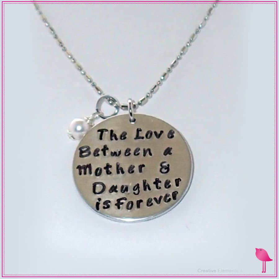 The Love Between a Mother & Daughter is Forever Bling Chicks Necklace - Bling Chicks Jewelry Accessories Gifts