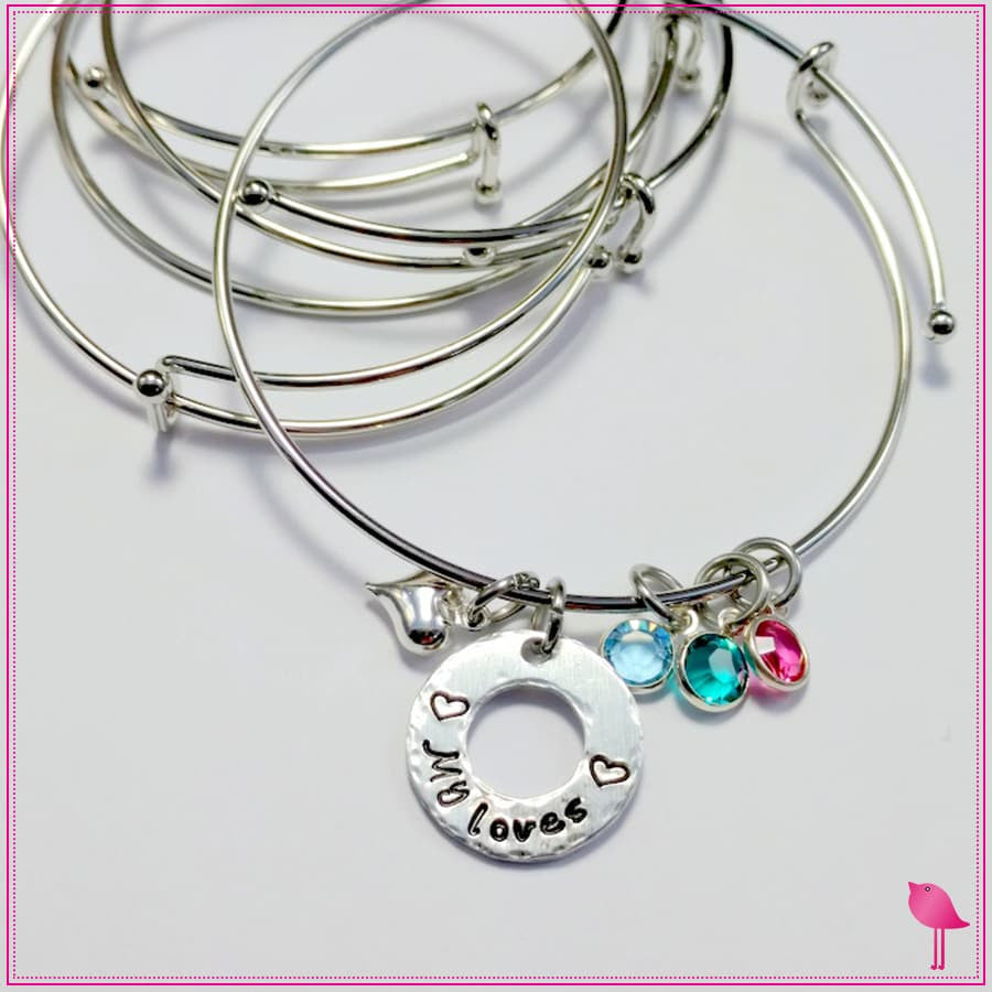My Loves Birthstone Bling Chicks Expandable Bracelet - Bling Chicks Jewelry Accessories Gifts