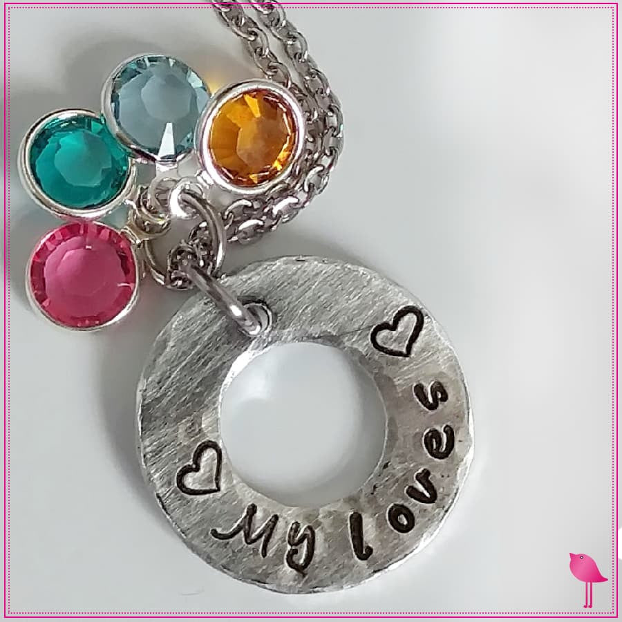 My Loves Birthstone Bling Chicks Necklace - Bling Chicks Jewelry Accessories Gifts