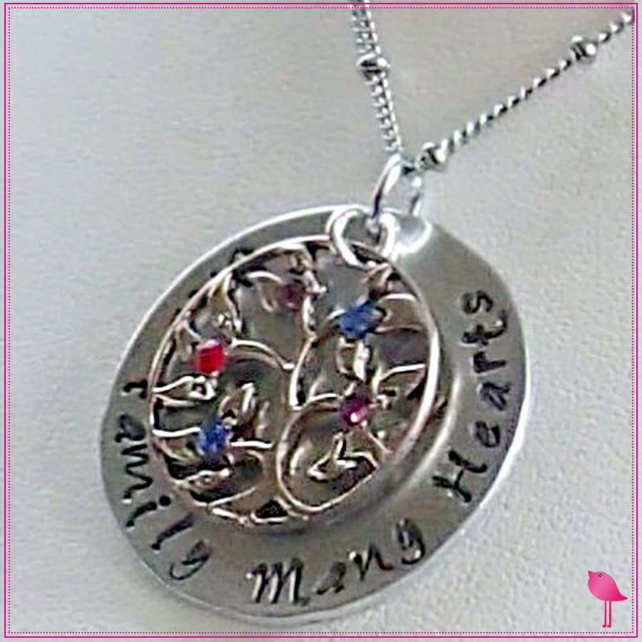 One Family Many Hearts Family Jewelry Bling Chicks Necklace