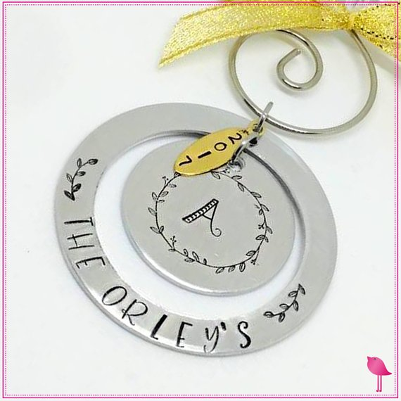 Personalized Family Name Christmas Ornament - Bling Chicks Jewelry Accessories Gifts