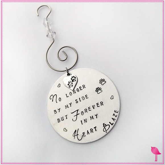 Pet Memorial Christmas Hand Stamped Ornament by Bling Chicks - Bling Chicks Jewelry Accessories Gifts