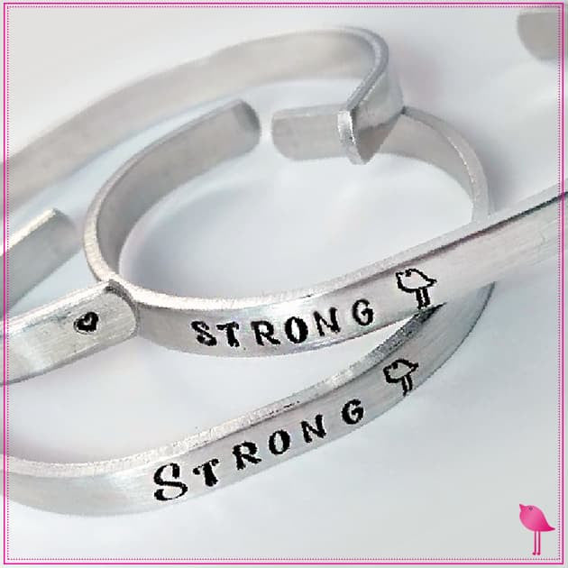 STRONG Chick Bling Chicks Cuff Bracelet -Empowering Women