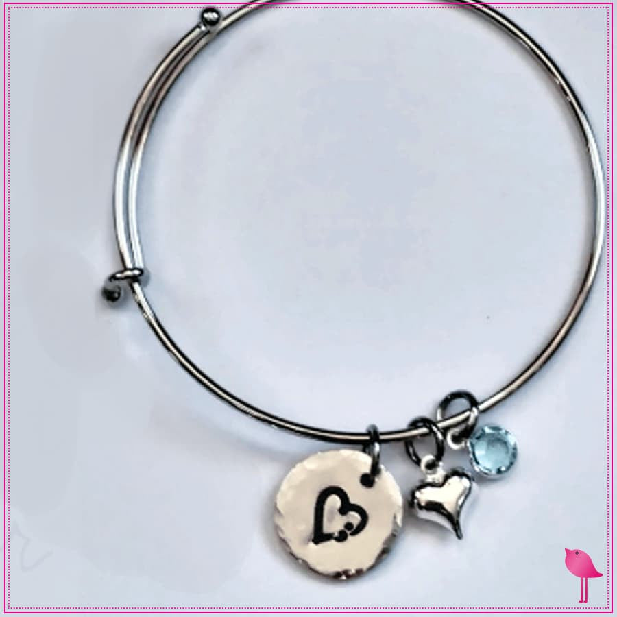 Semicolon Heart Bling Chicks Expandable Bracelet - Bling Chicks Jewelry Accessories Gifts