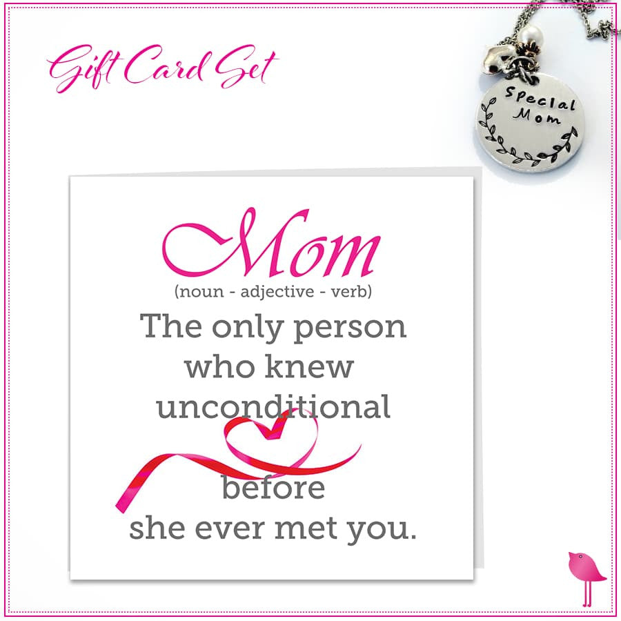 Special MOM Necklace Bling Chicks Gift Card Set - Bling Chicks Jewelry Accessories Gifts