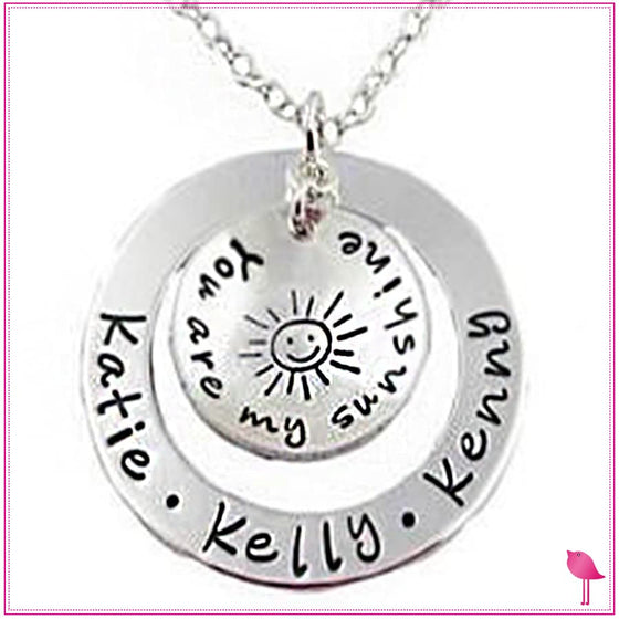 You Are My Sunshine Personalized Bling Chicks Necklace - Bling Chicks Jewelry Accessories Gifts