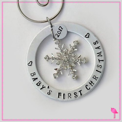 Baby's First Christmas Ornament from Bling Chicks - Bling Chicks Jewelry Accessories Gifts