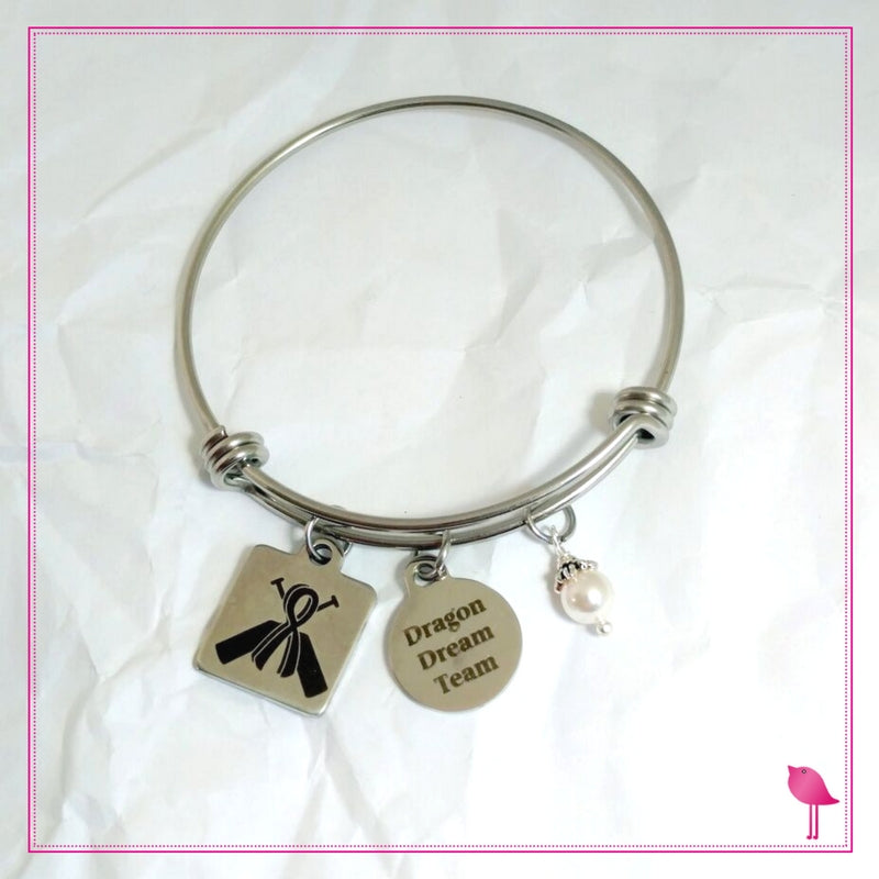 Personalized Dragon Boat Racing Team Bangle Bracelet  by Bling Chicks - D004