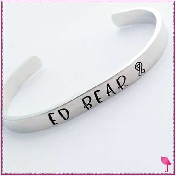 Childhood Cancer - Ed Bear Cuff Bracelet by Bling Chicks - Bling Chicks Jewelry Accessories Gifts
