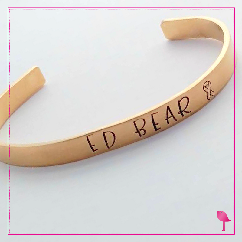 Project Ed Bear Cuff Bracelet in Nu Gold by Bling Chicks