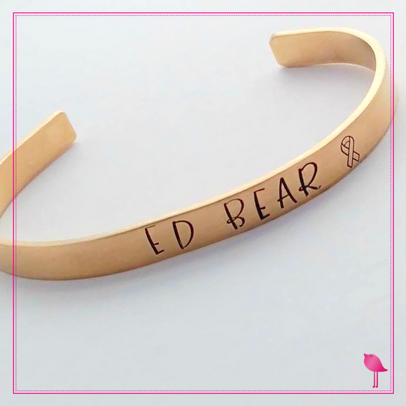 Project Ed Bear Nu Gold Cuff Bracelet by Bling Chicks - Bling Chicks Jewelry Accessories Gifts