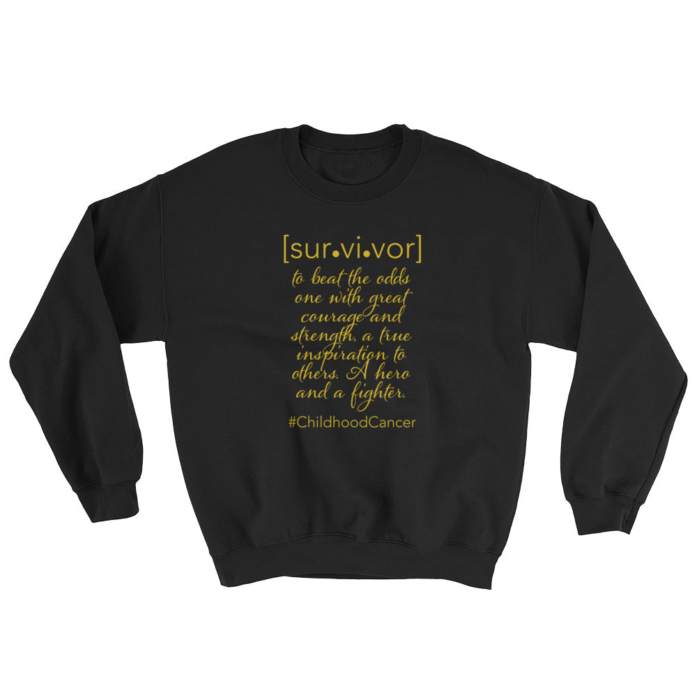 Childhood Cancer SURVIVOR Sweatshirt by Bling Chicks - Bling Chicks Jewelry Accessories Gifts