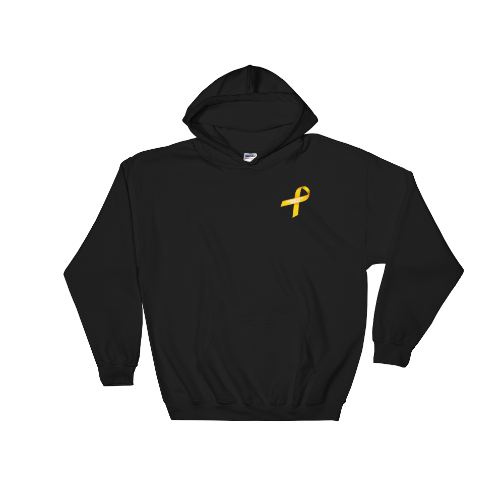 My Daughter Is My Hero Childhood Cancer Awareness Hooded Sweatshirt by Bling Chicks