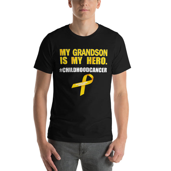 Short-Sleeve Unisex T-Shirt - My Grandson is My Hero Childhood Cancer