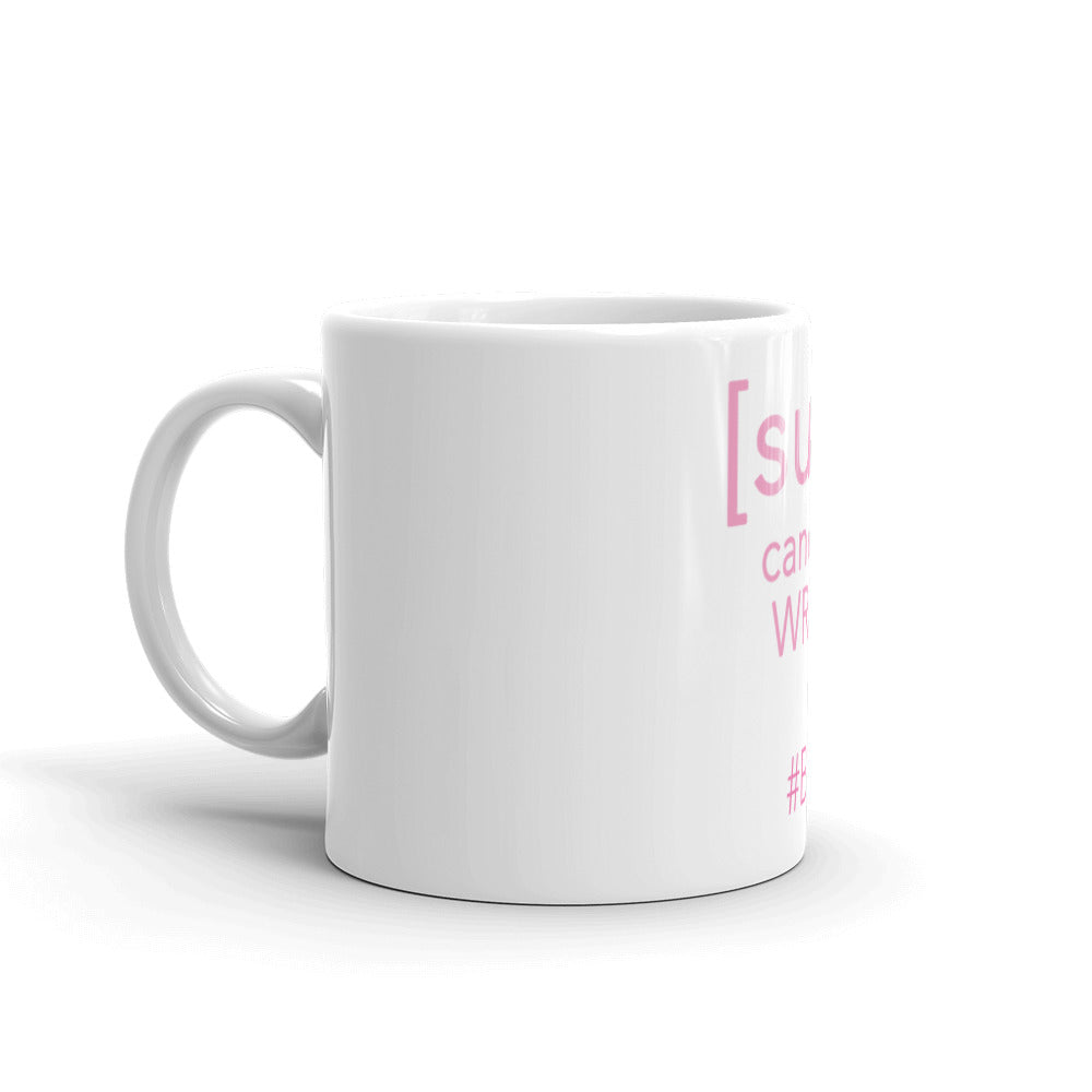 SURVIVOR Cancer Picked the Wrong Chick Breast Cancer Mug by Bling Chicks