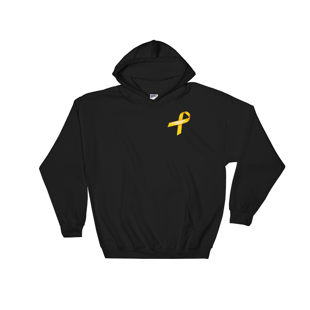 My Son Is My Hero Childhood Cancer Awareness Hooded Sweatshirt by  Bling Chicks - Bling Chicks Jewelry Accessories Gifts