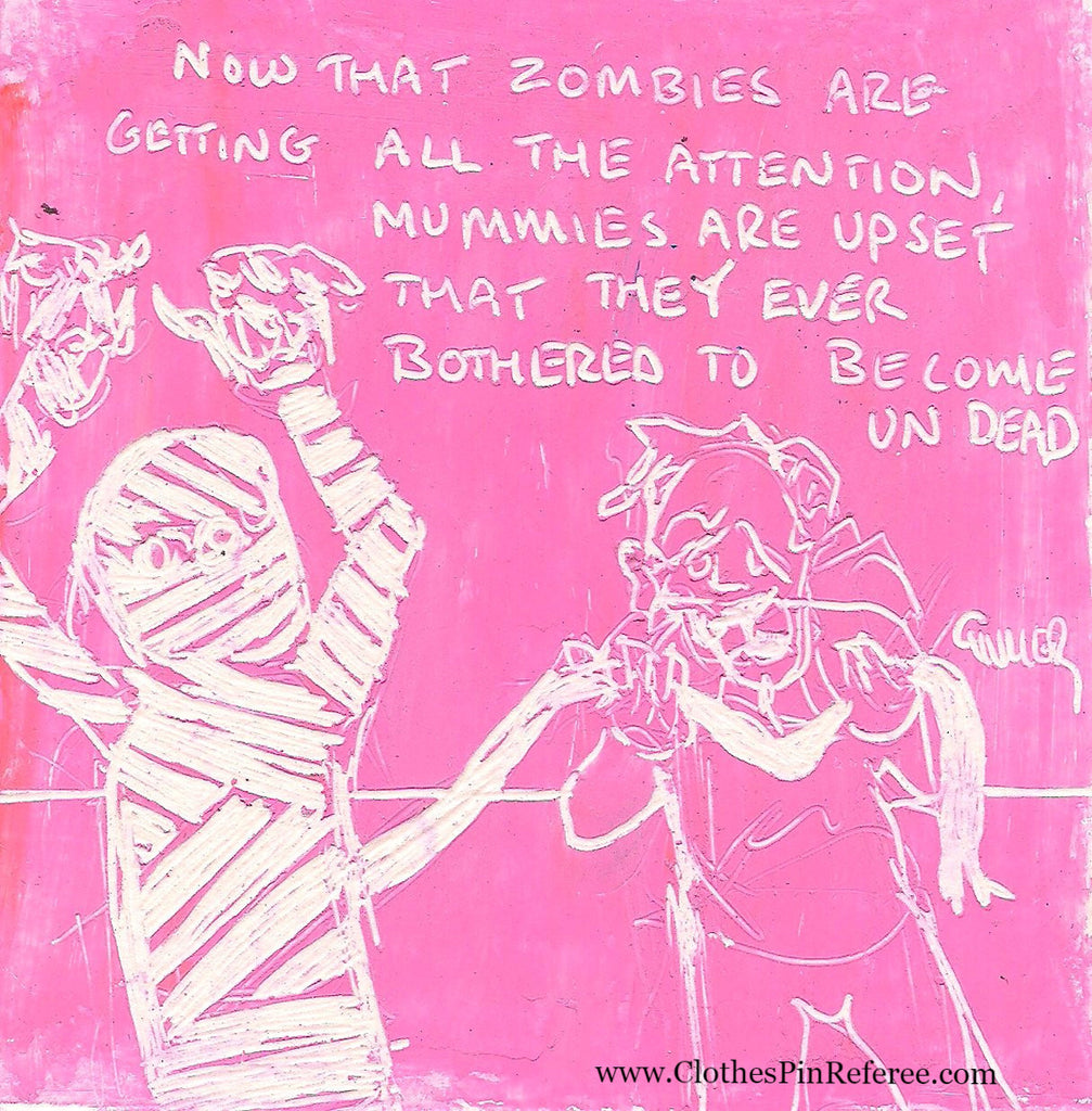 Zombies and Mummies Art Print