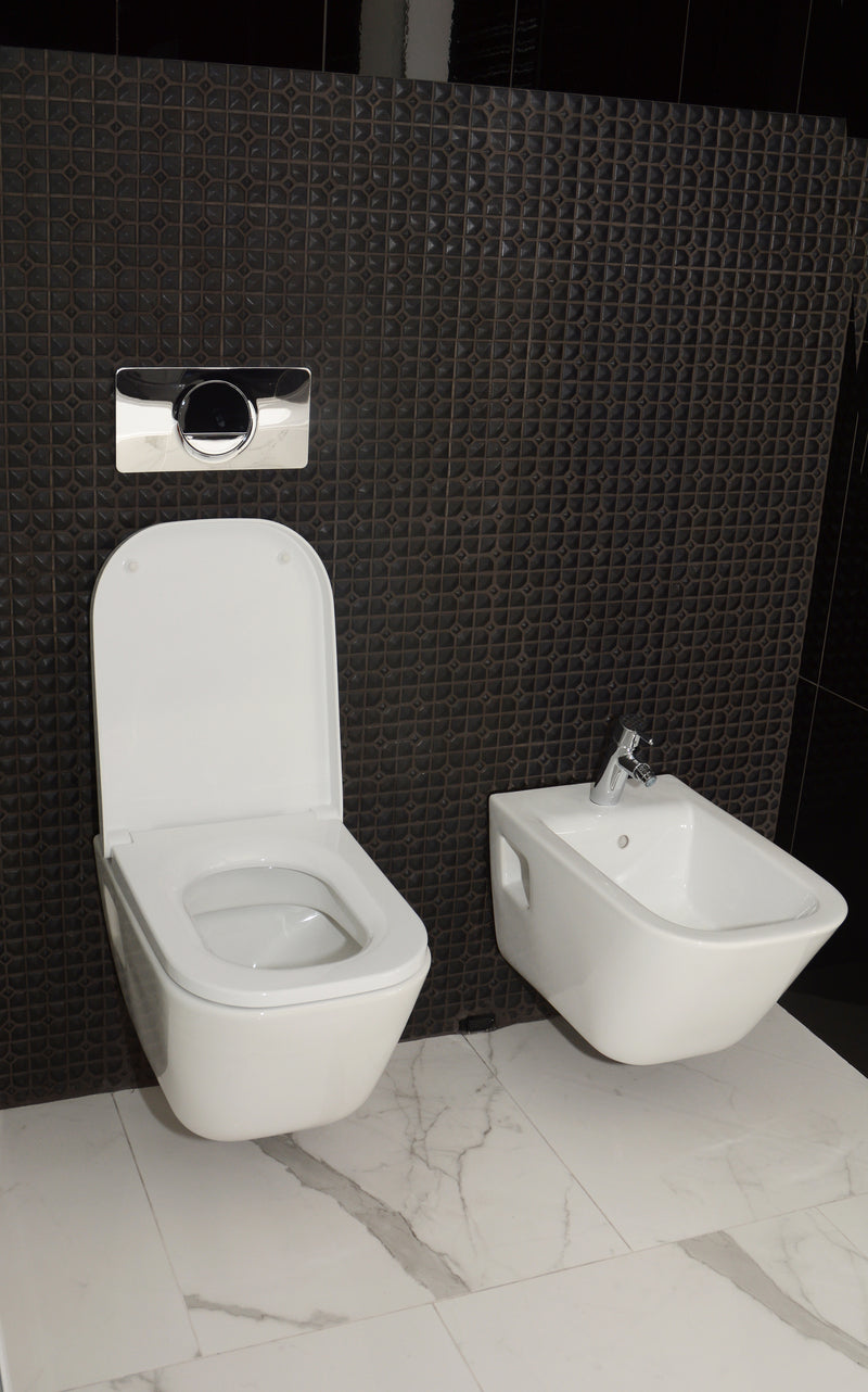 What are some of the exciting traits of wall-hung toilets?