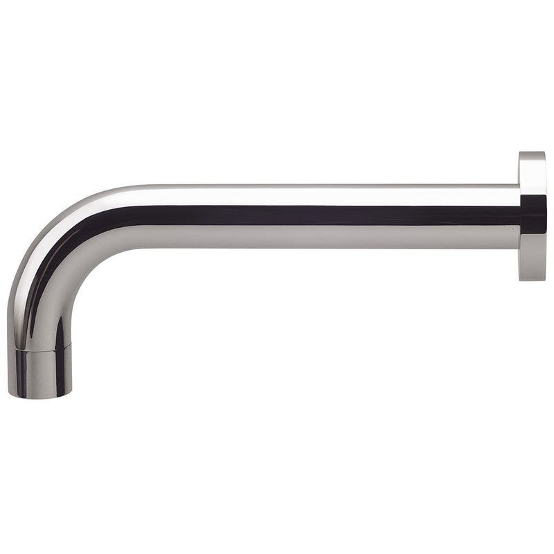 PHOENIX VIVID WALL BATH OUTLET 250MM CURVED CHROME