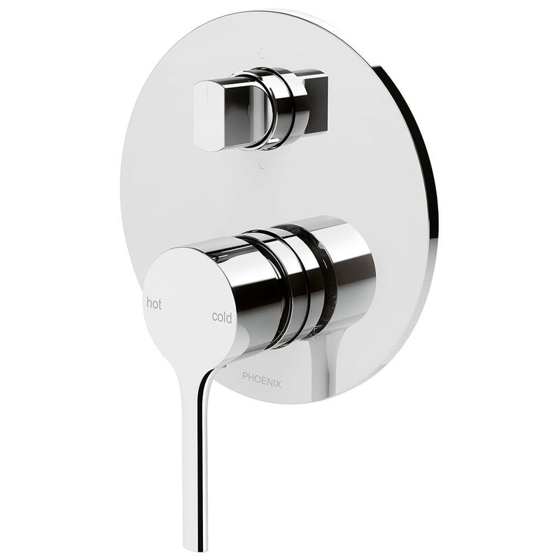 PHOENIX VIVID SLIMLINE OVAL SHOWER/BATH DIVERTER MIXER MATTE BLACK
