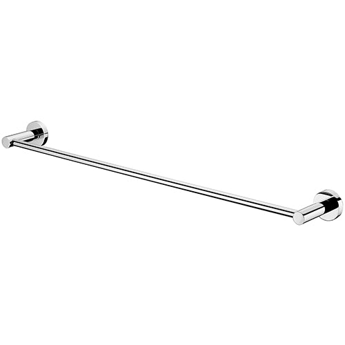 MODERN NATIONAL MIRAGE SINGLE TOWEL RAIL CHROME (AVAILABLE IN 600MM AND 750MM)