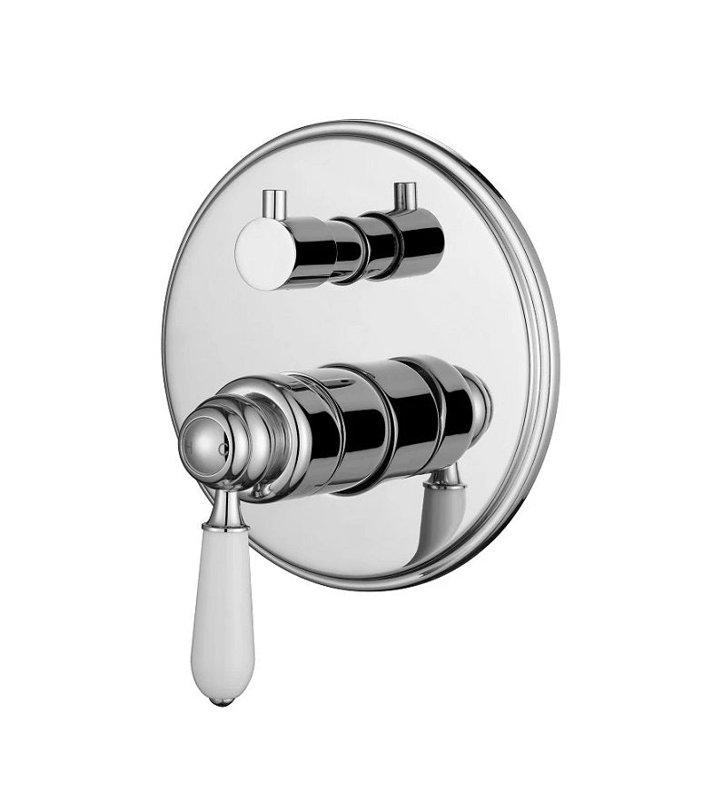 MODERN NATIONAL BOR009 BORDEAUX SHOWER MIXER WITH DIVERTER (CHROME)