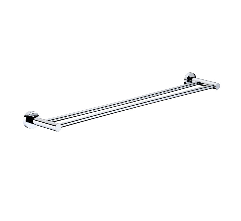 MODERN NATIONAL MIR80 MIRAGE DOUBLE TOWEL RAIL (900MM) (CHROME)