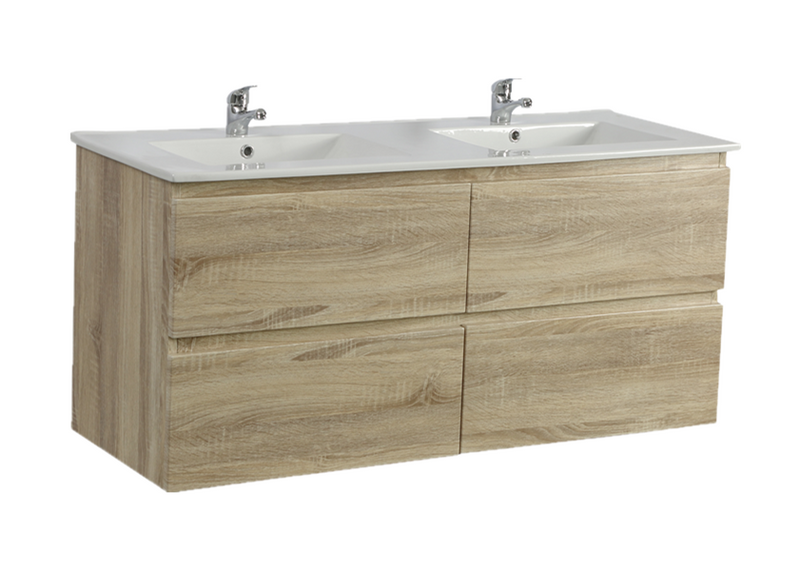 POSEIDON WHITE OAK Q1546WO WALL HUNG VANITY (1500MM)