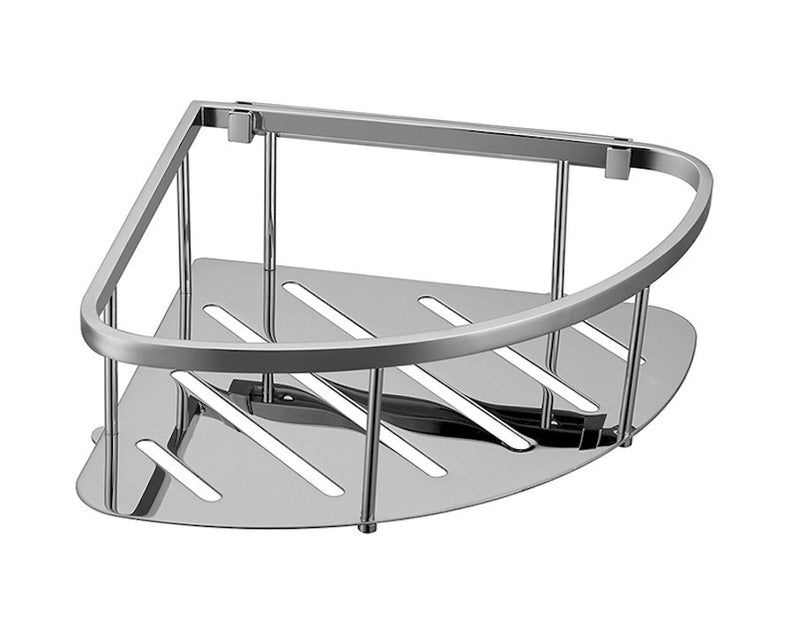 MODERN NATIONAL SINGLE CORNER SHOWER BASKET (REMOVABLE) (STAINLESS STEEL)