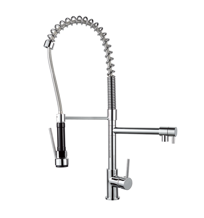 MODERN NATIONAL K0044CB HALO SPRING KITCHEN MIXER (MATT BLACK AND CHROME)