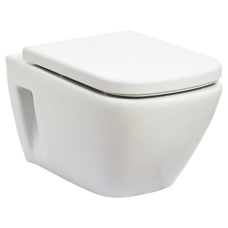 JOHNSON SUISSE GEMELLI WALL HUNG RIMLESS TOILET PANS