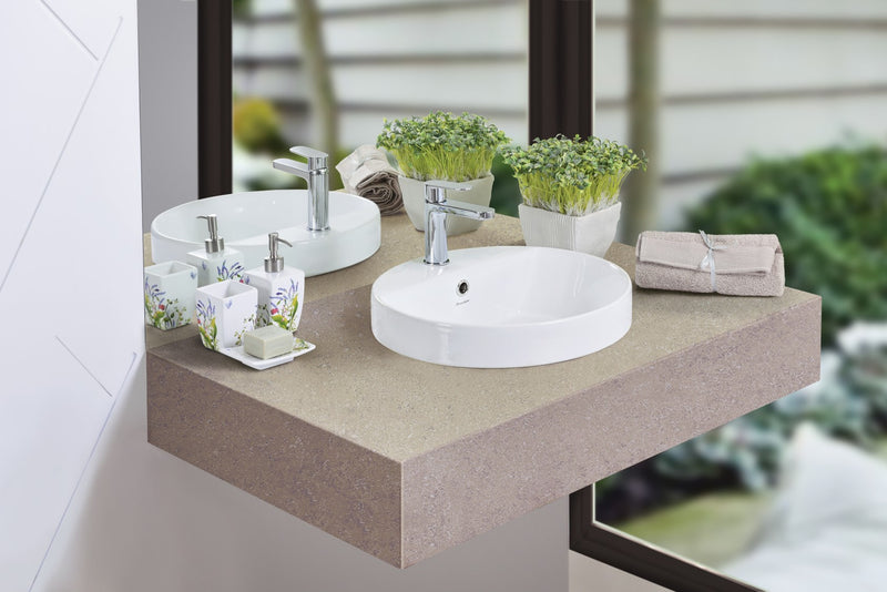 JOHNSON SUISSE GEMELLI OVAL SEMI-INSET SEMI-INSET BASINS