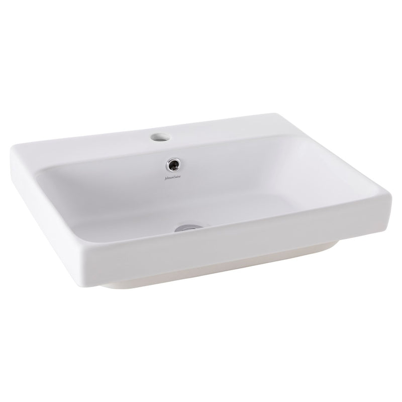 JOHNSON SUISSE GEMELLI 550 RECTANGLE SEMI-INSET SEMI-INSET BASINS