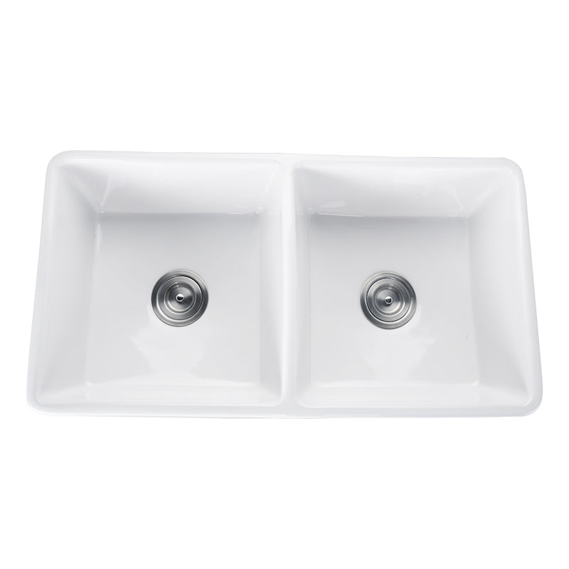 POSEIDON WHITE KCSD760 FERMENTALE CERAMIC KITCHEN SINK