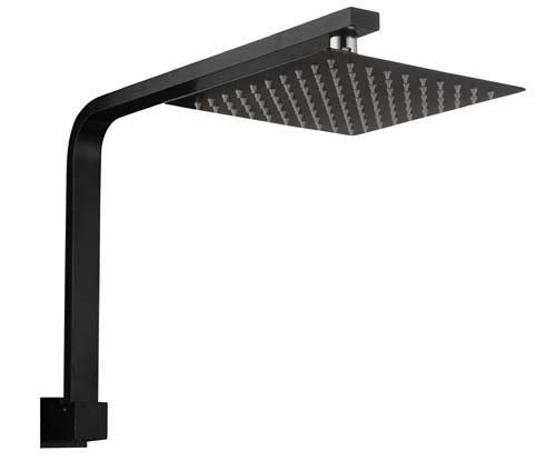 HELLYCAR ERIC SHOWER ARM AND SHOWER HEAD BLACK