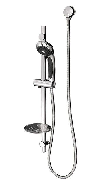 LINKWARE ELLE COBRA RAIL SHOWER CHROME