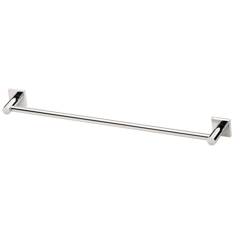PHOENIX RADII SINGLE TOWEL RAIL SQUARE PLATE CHROME