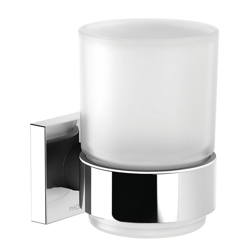 PHOENIX RADII TUMBLER AND HOLDER SQUARE PLATE CHROME