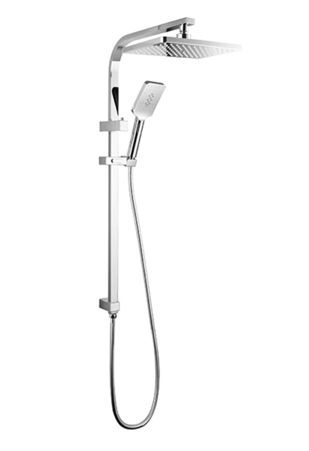LINKWARE LIBERTY TWIN SHOWER WITH RAIL SYSTEM CHROME