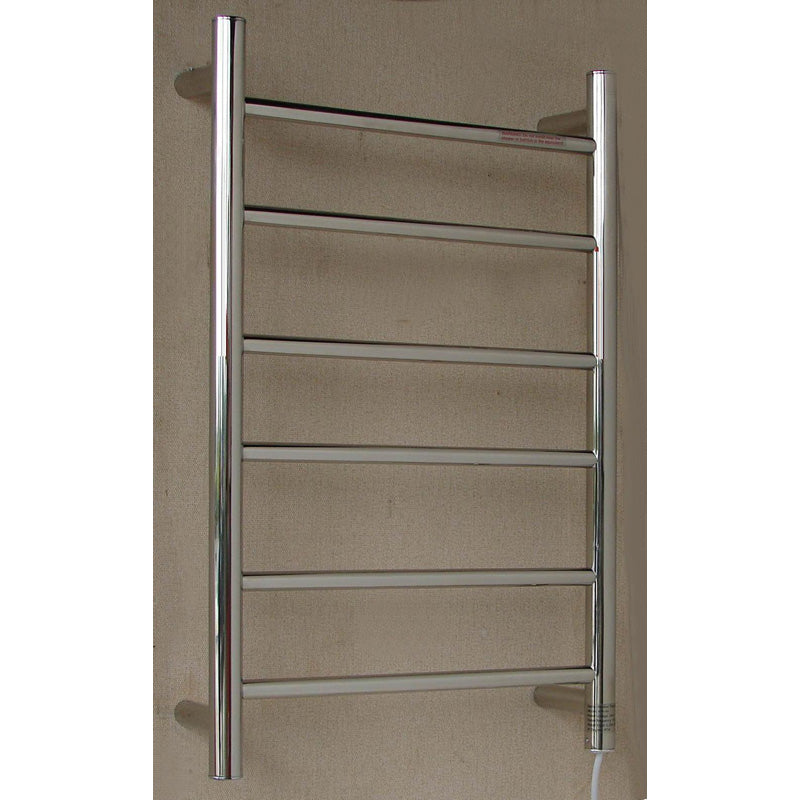 P&P 6 BAR HEATED TOWEL RAIL ROUND TUBES