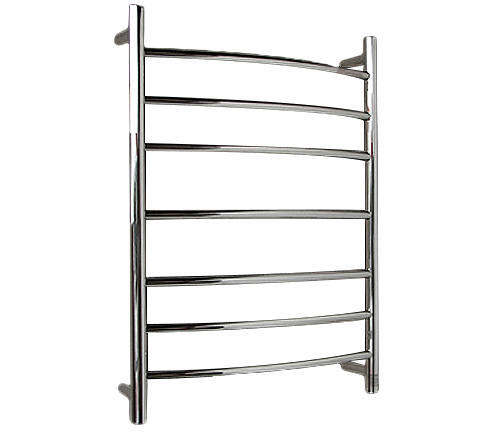P&P 7 BAR HEATED TOWEL RAIL ROUND TUBES