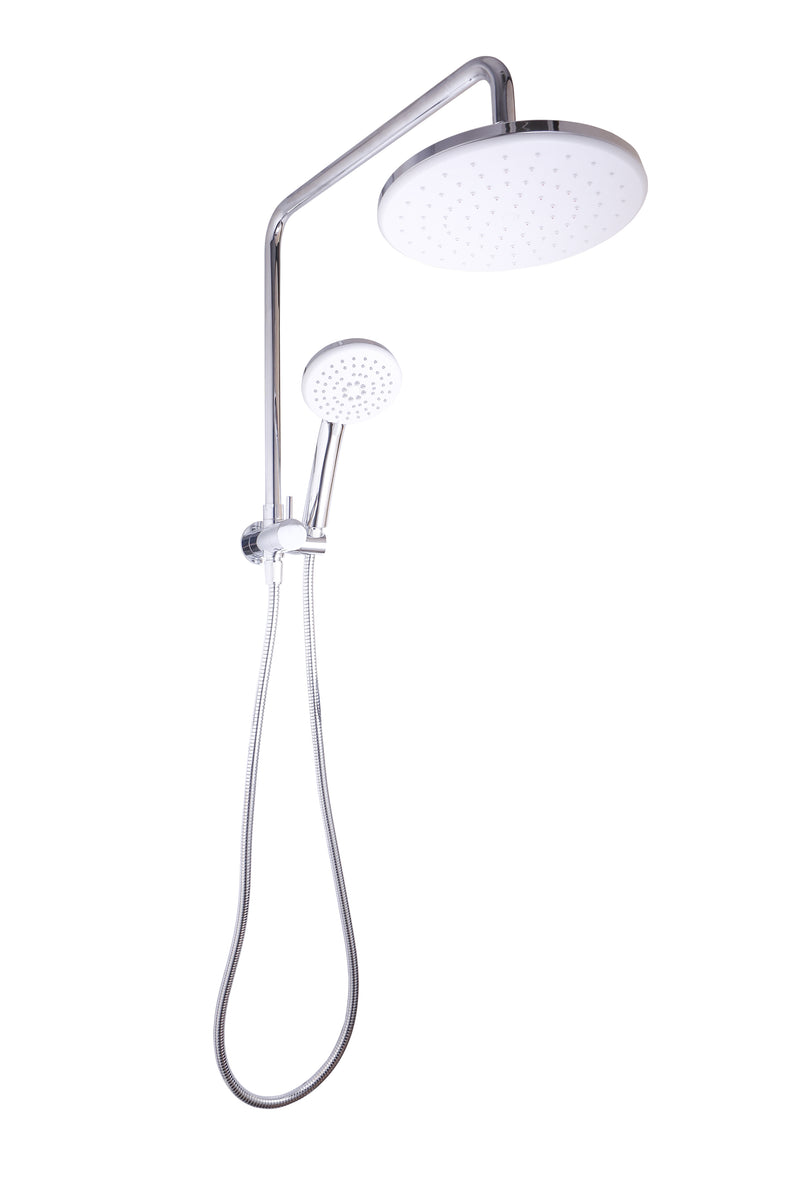 LINKWARE SELF CLEANING TWIN SHOWER ROUND CHROME