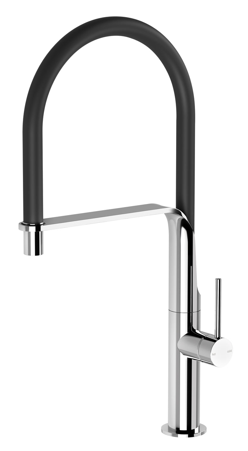 PHOENIX VIDO FLEXIBLE HOSE SINK MIXER BRUSHED NICKEL
