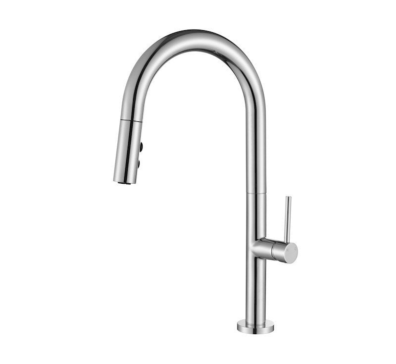 MODERN NATIONAL BENTLEE PULL OUT KITCHEN MIXER WITH 2 BUTTON (BRUSHED NICKEL)
