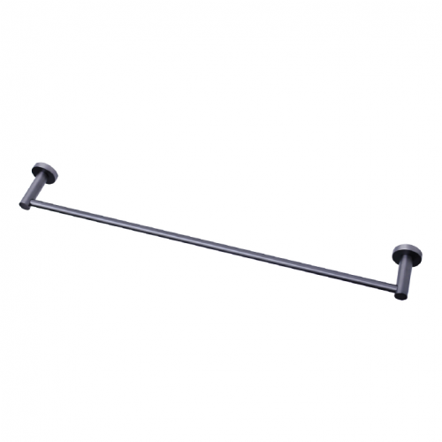 MODERN NATIONAL MIRAGE SINGLE TOWEL RAIL GUN METAL (AVAILABLE IN 600MM AND 750MM)