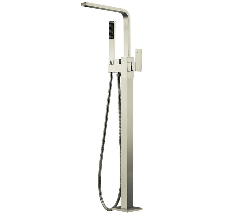 MODERN NATIONAL CHA012BK CHAO SQUARE FREESTANDING BATH MIXER (MATT BLACK)