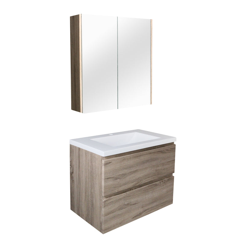 POSEIDON WHITE OAK Q6046WO WALL HUNG VANITY (AVAILABLE IN 650, 750 AND 900MM)