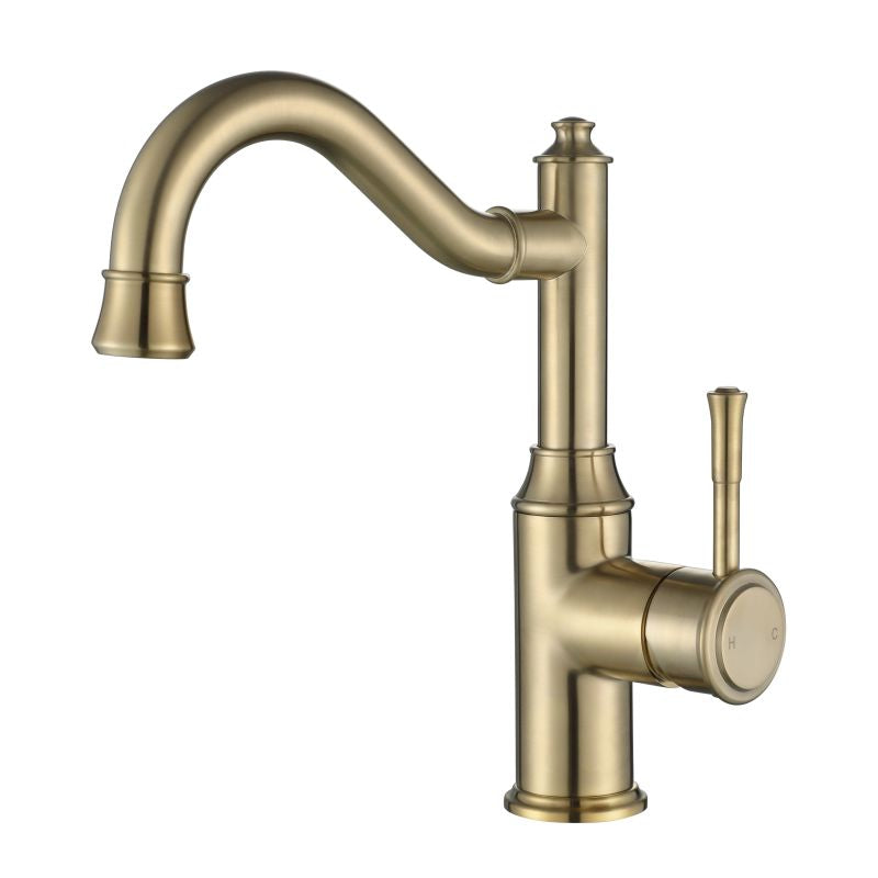 MODERN NATIONAL MON002-1BM MONTPELLIER HIGH RISE BASIN MIXER (BRUSHED BRONZE)