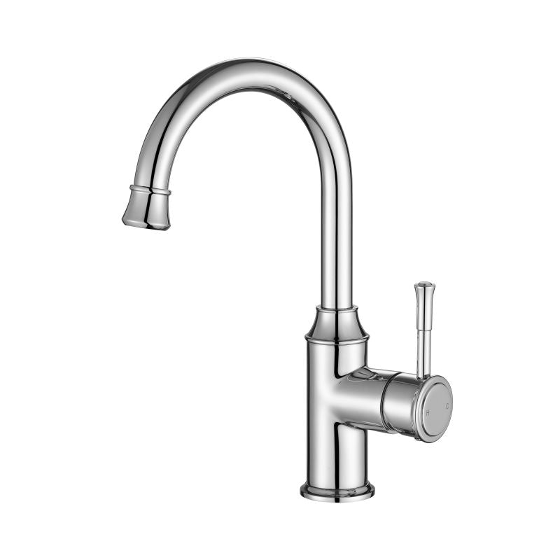 MODERN NATIONAL MON002 MONTPELLIER HIGH RISE GOOSE NECK BASIN MIXER (CHROME)