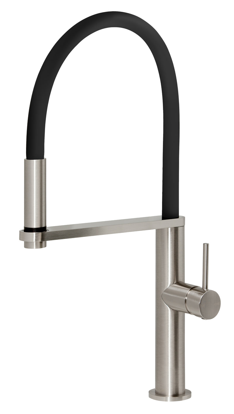 PHOENIX BLIX FLEXIBLE HOSE SINK MIXER ROUND CHROME